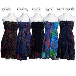 Women's Rayon Tie-dye Multi-wear Skirt (Nepal)