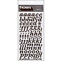 Thickers Printed Marquise Chestnut Chipboard Stickers