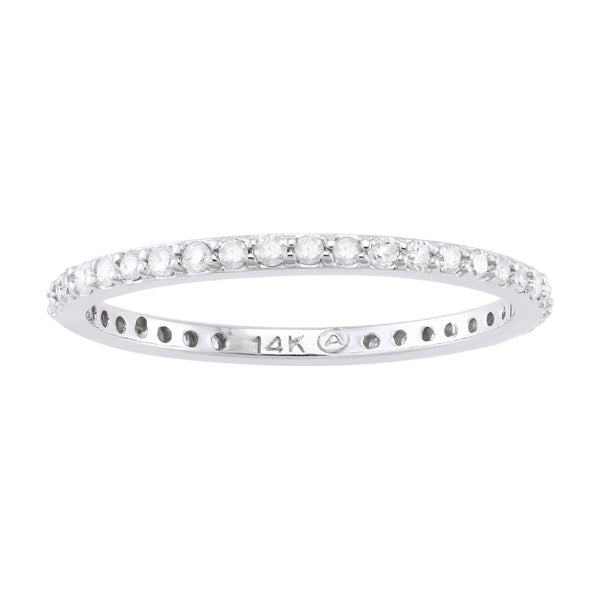 Beverly Hills Charm 14k Gold 1/3ct TDW Round-Cut Diamond Eternity Wedding Band (H-I, I2-I3)
