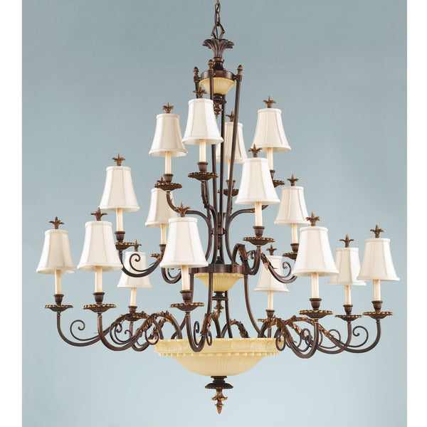 Tres Chic Belle Fluer 16-light Copper Chandelier