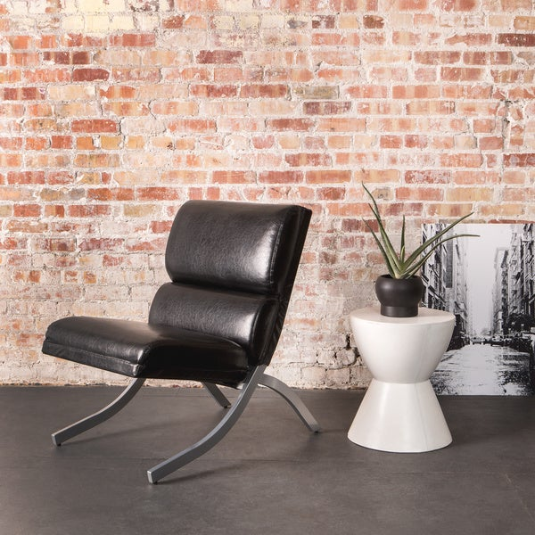 Rialto Black Bonded Leather Chair