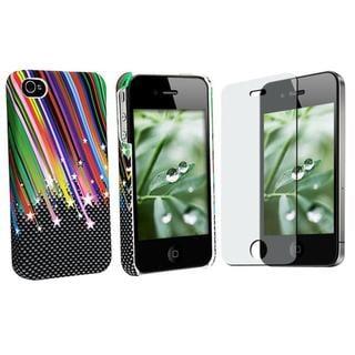 Rainbow Case/ Anti-glare Screen for Apple iPhone 4