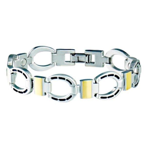 Sabona Men's Horseshoe Duet Magnetic Bracelet