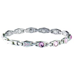 Sabona Lady Executive Pink Ribbon Magnetic Bracelet
