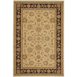 Majesty Extra Fine Beige/ Brown Rug (5'3 x 7'6)