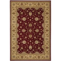 Majesty Extra Fine Red/ Beige Rug (5'3 x 7'6)