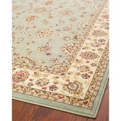Majesty Extra Fine Light Blue/ Cream Rug (5'3 x 7'6)