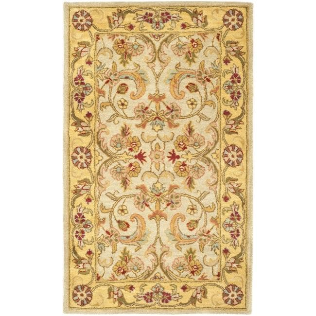 Safavieh Handmade Classic Grey/ Light Gold Wool Rug (3' x 5')