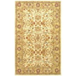 Safavieh Handmade Classic Grey/ Light Gold Wool Rug (5' x 8')