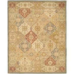 Handmade Antiquities Bakhtieri Multi/ Beige Wool Rug (9'6 x 13'6)