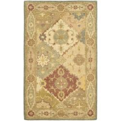 Handmade Antiquities Bakhtieri Multi/ Beige Wool Rug (2'3 x 4')