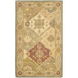 Handmade Antiquities Bakhtieri Multi/ Beige Wool Rug (3' x 5')