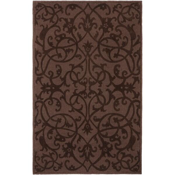 Safavieh Handmade Irongate Brown New Zealand Wool Rug (4' x 6')