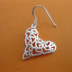 Sterling Silver Hearts Earrings (Thailand)