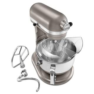 KitchenAid RKP26M1XCS Cocoa Silver 6-quart Pro 600 Bowl-Lift Stand Mixer (Refurbished)