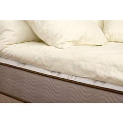 Organic Eco-Valley Wool 3-inch Twin/ Twin XL-size Mattress Topper
