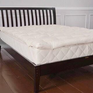 Organic Eco-Valley Wool 1.5-inch Twin-size Mattress Pad