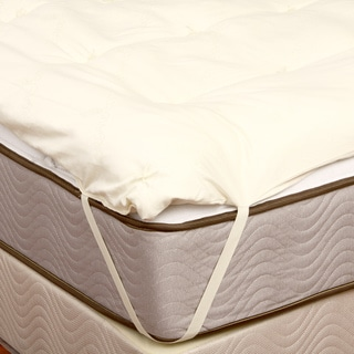 Organic Eco-Valley Wool 1.5-inch Twin XL-size Mattress Pad
