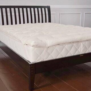 Organic Eco-Valley Wool 1.5-inch Twin XL-size Mattress Pad