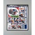 2010 New England Patriots Matted Print