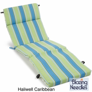 All-Weather UV-Resistant Polyester Outdoor Chaise Lounge Cushion