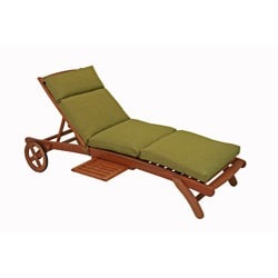 Blazing Needles All-weather UV-resistant Outdoor Chaise Lounge Cushion