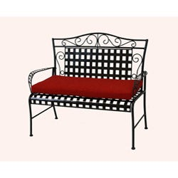 Blazing Needles All-weather UV-resistant Outdoor Loveseat/ Bench Cushion