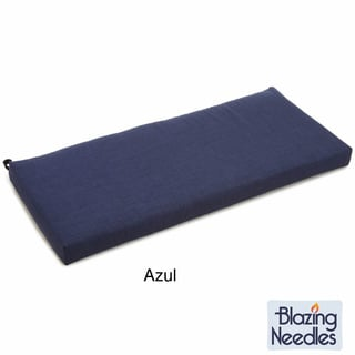 Blazing Needles Solid All-weather UV-resistant Outdoor Loveseat/ Bench Cushion