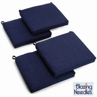 Blazing Needles All-weather UV-resistant Outdoor Chair Cushions (Set of 4)