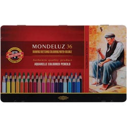 Mondeluz Aquarell Watercolor Pencils (Set of 36)