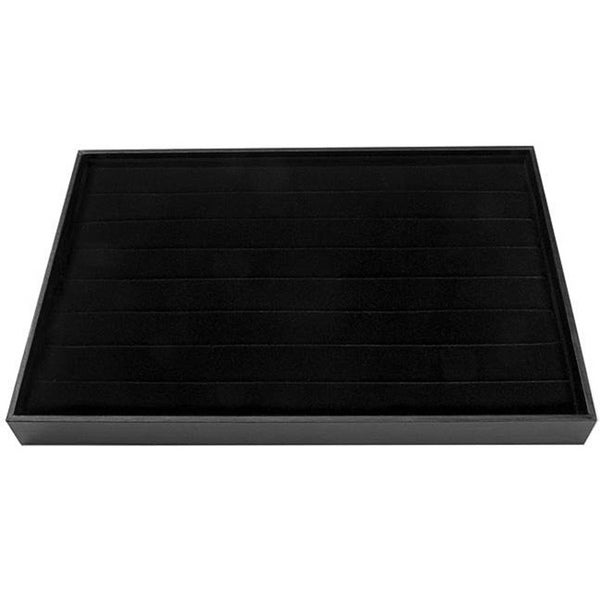 Black Velvet Jewelry Ring Display Tray