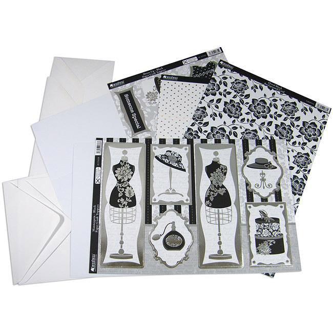 Shabby Chic 'Dress-Up Black' 13-piece Luxury Card Making Kit
