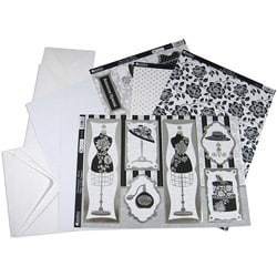 Shabby Chic 'Dress-Up Black' 13-piece Luxury Card Making Kit