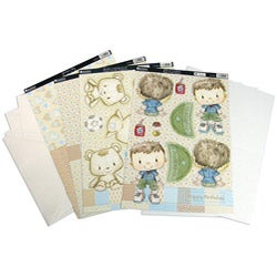 Patchwork Pals 'Billy Blue/ Beige' 13-piece Luxury Card Making Kit