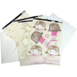 Patchwork Pals 'Bonnie Pink/ Beige' 13-piece Luxury Card Making Kit