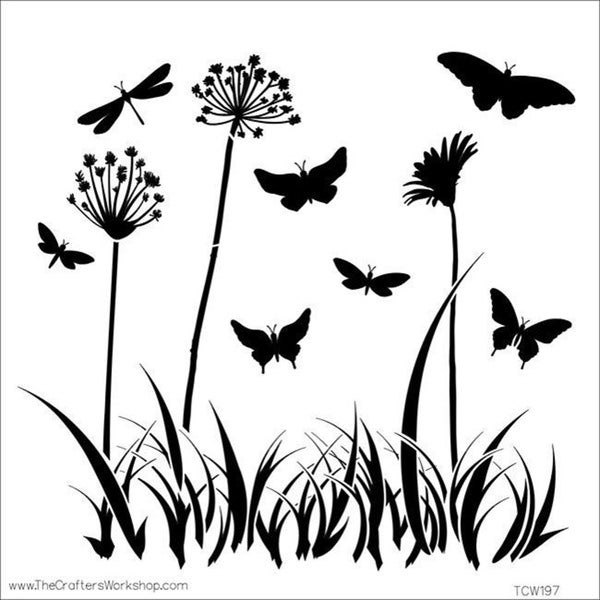 Crafter's Workshop Butterfly Meadow Template