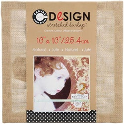Stretched Natural Burlap (10 x 10)