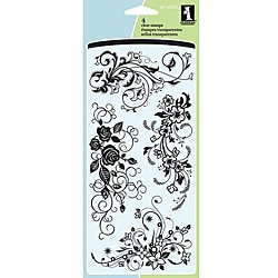 Inkadinkado Flower Flourishes Acrylic Stamp Sheet