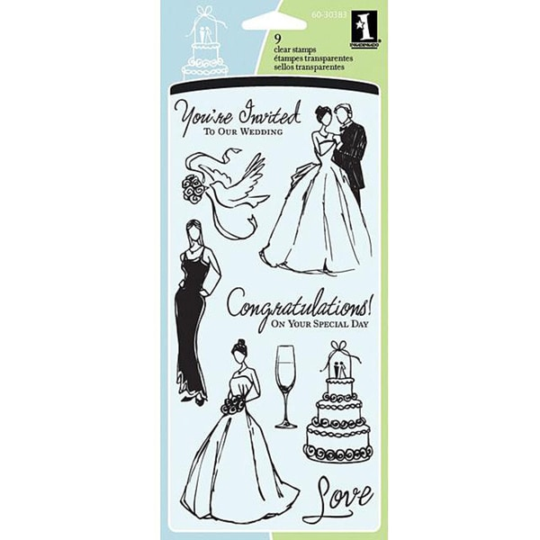 Inkadinkado Wedding Acrylic Stamp Sheet