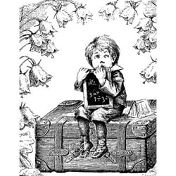 LaBlanche Schoolboy On A Suitcase Silicone Stamp