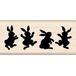 Inkadinkado Bunny Border Rubber Stamp