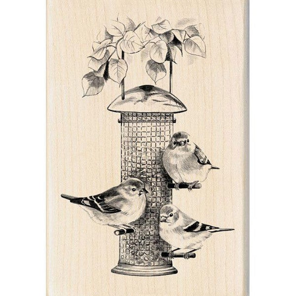 Inkadinkado Birds Feeder Rubber Stamp