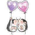Penny Black 'Hedgehog Kisses' Cling Rubber Stamp