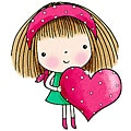 Penny Black Mimi's Heart Rubber Stamp