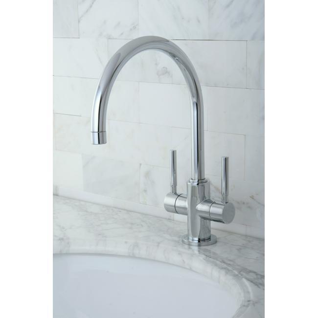 Concord Dual-handle Chrome Vessel Faucet