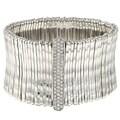 Celeste Silvertone Pave-set Crystal Stretch Bracelet