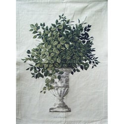 Greenery Beige Small Cotton Tapestry