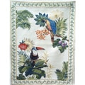 Tropical Birds with Border Multi Cotton Tapestry