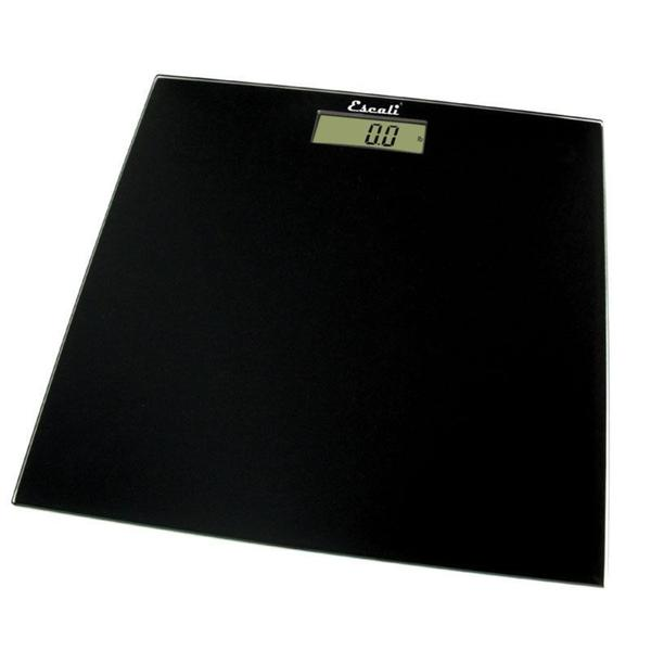 Escali B180SB Black Glass Platform Bathroom Scale