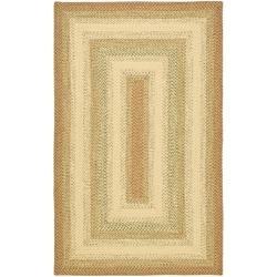 Handwoven Indoor/Outdoor Contemporary Reversible Multicolor Braided Rug (8' x 10')
